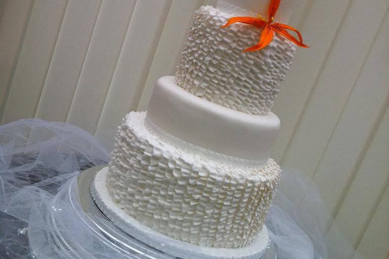 A beautiful ruffles cake