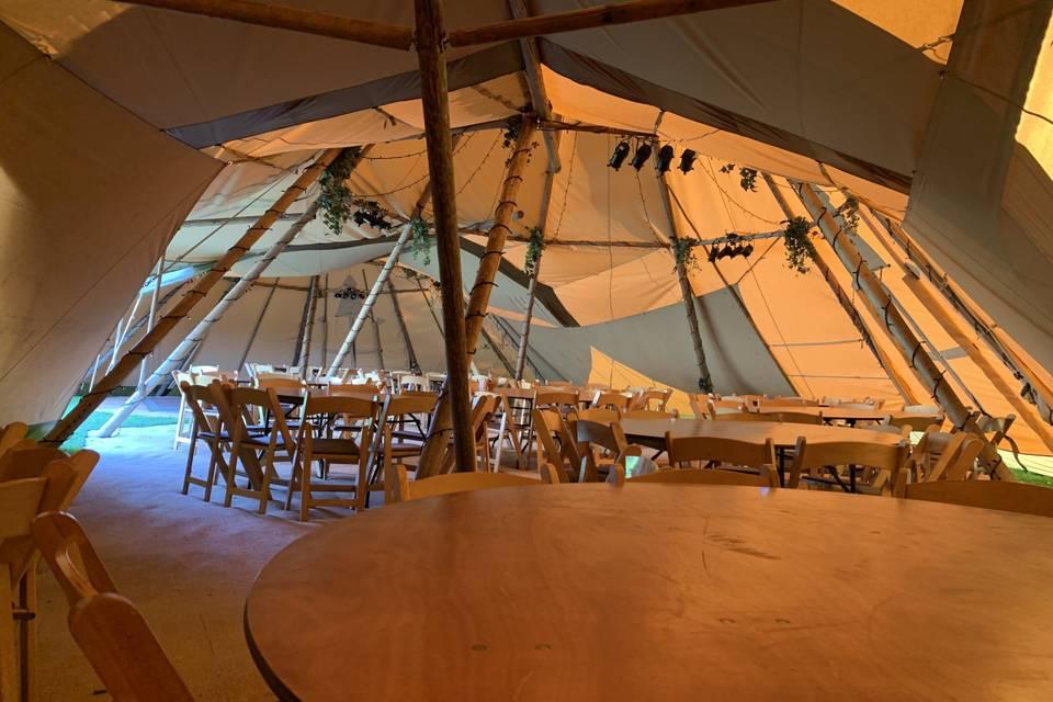 Setting up teepee