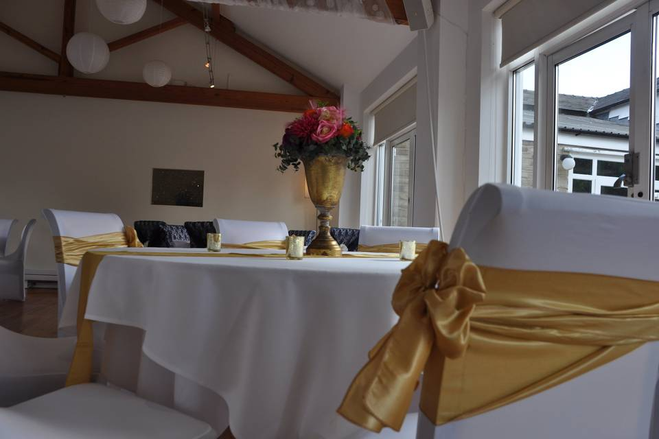 Flower and chair covers