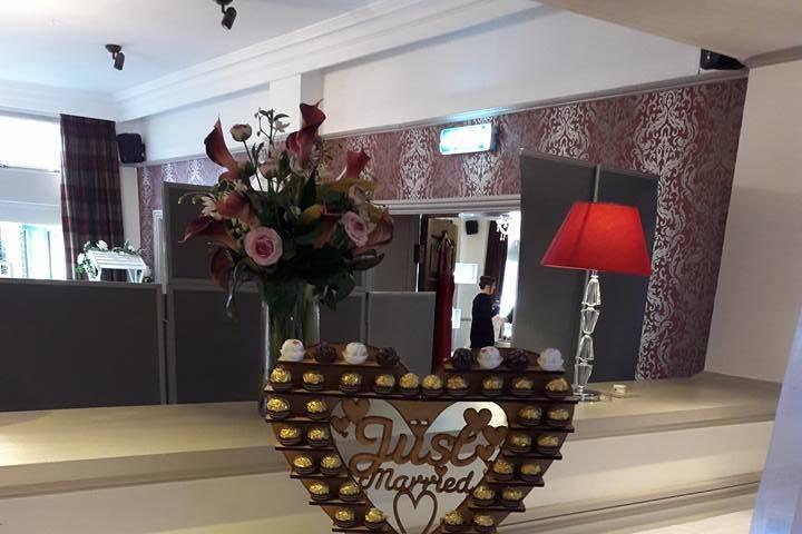 Romantic welcome in the honeymoon suite