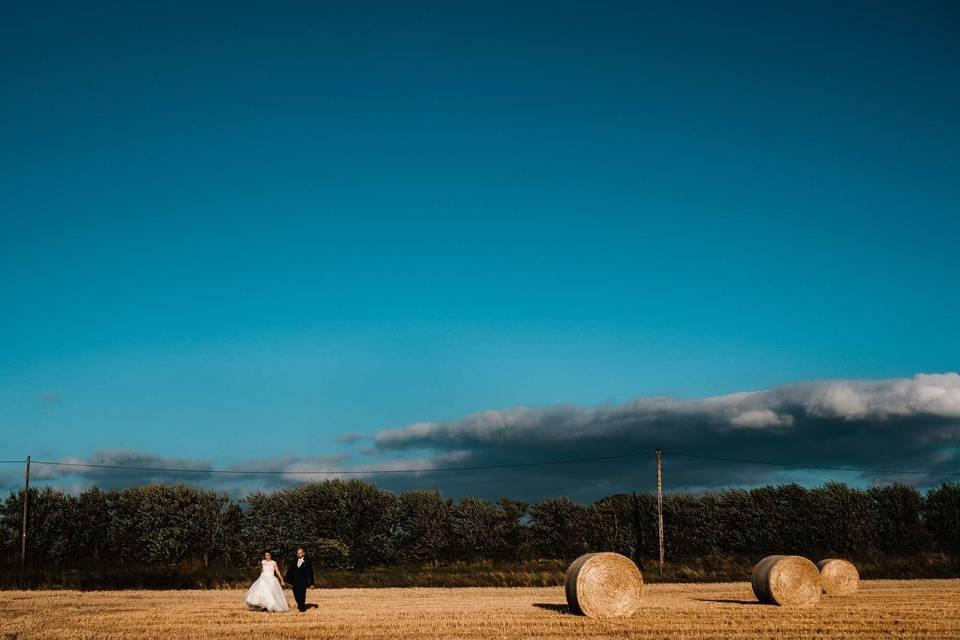 Walking across a field - Ross Hurley Photography