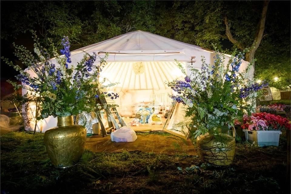 Marquee Hire Hooe's Yurts 7