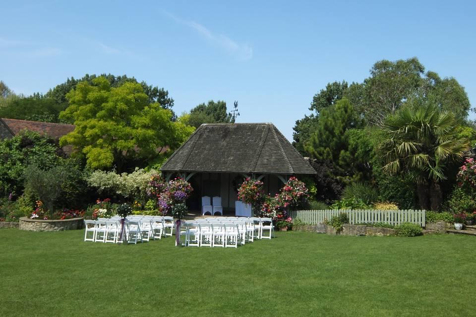 Garden Set Up For Ceremony