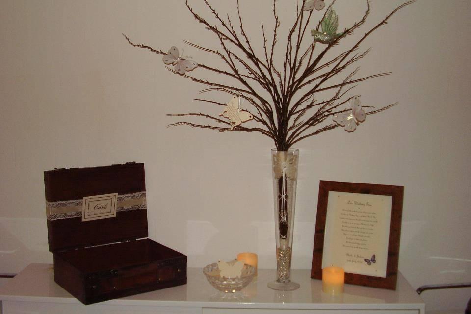 Wishing tree/Vintage Suitcase
