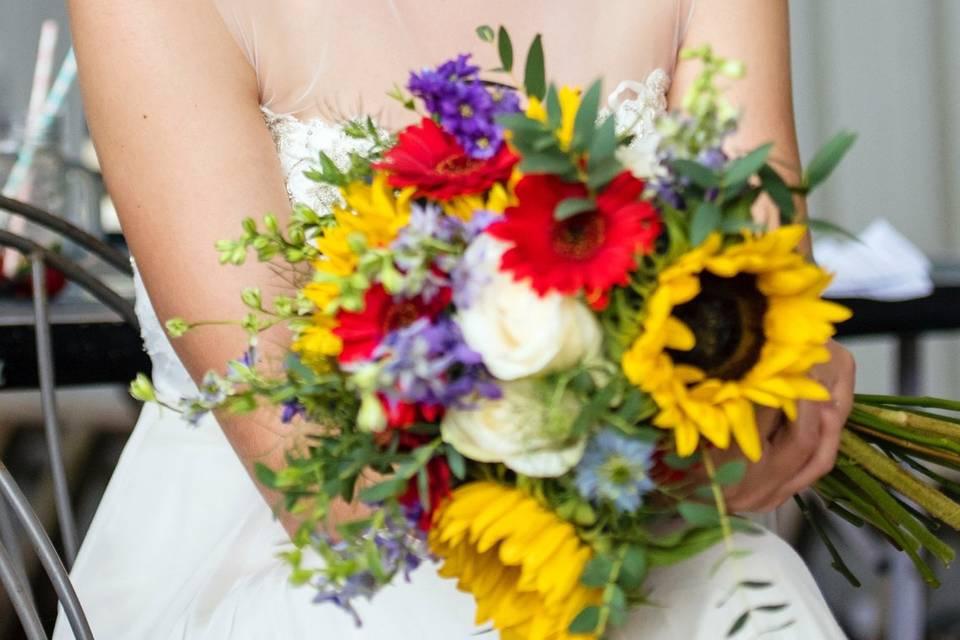 A vibrant bouquet