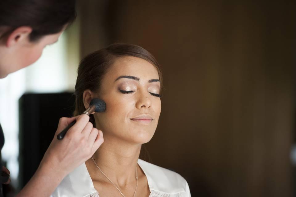 Wedding makeup application