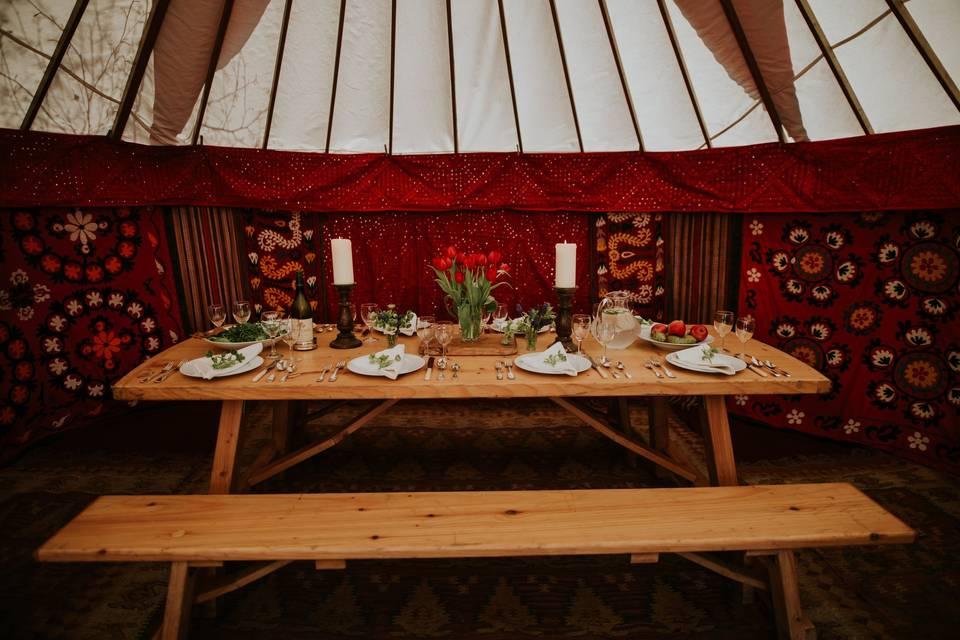 Decorative Hire Hooe's Yurts Furnishings 23