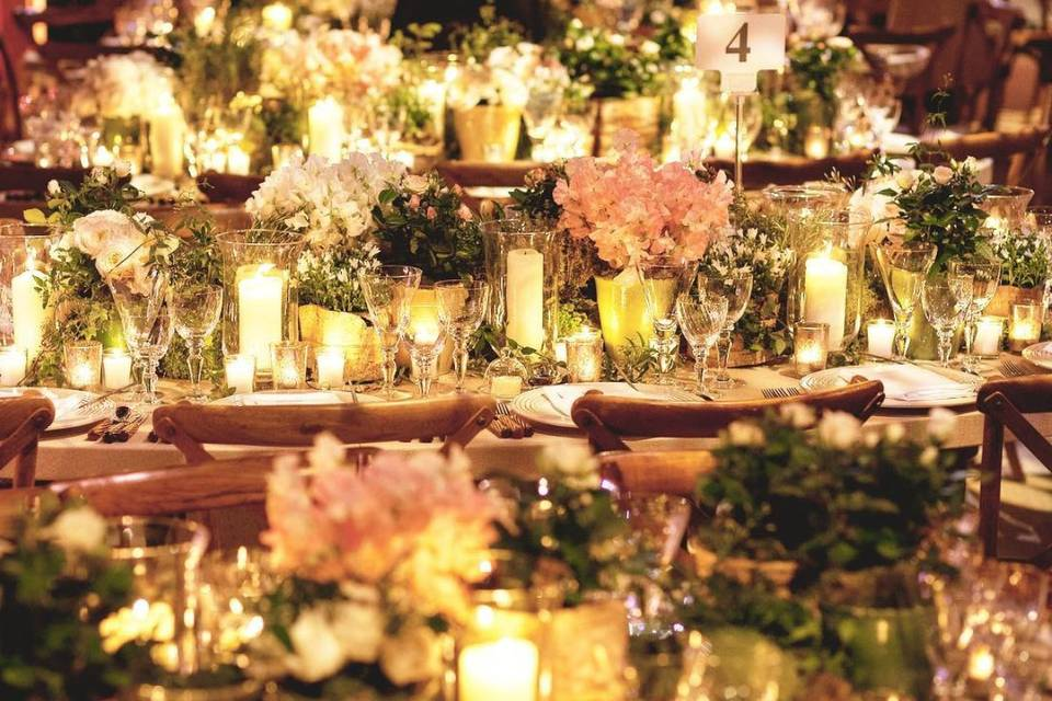 Candlelit reception