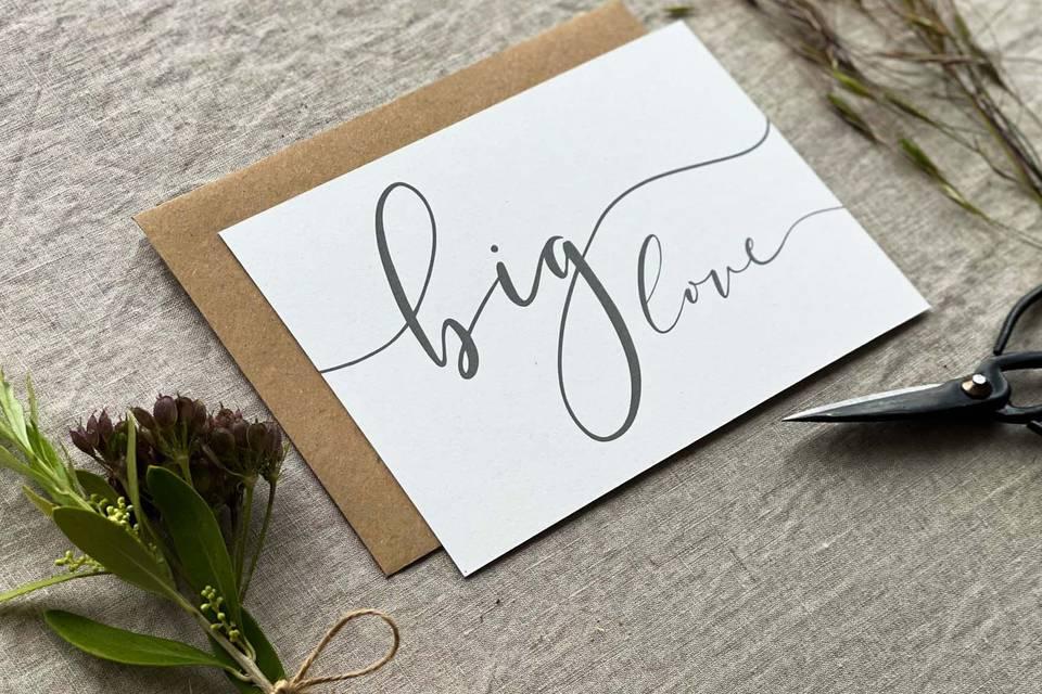 Big love envelope