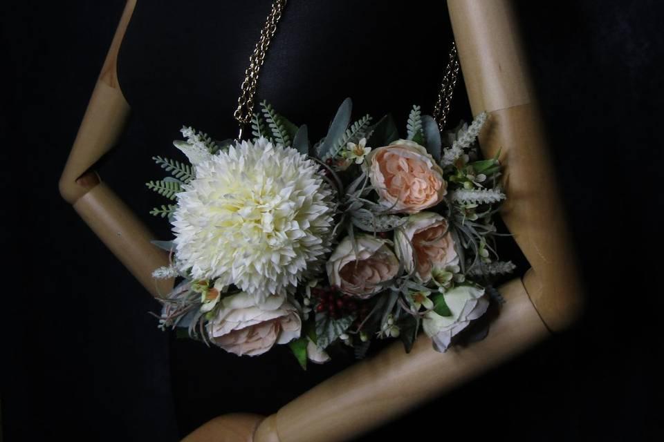 Exquisite floral handbag