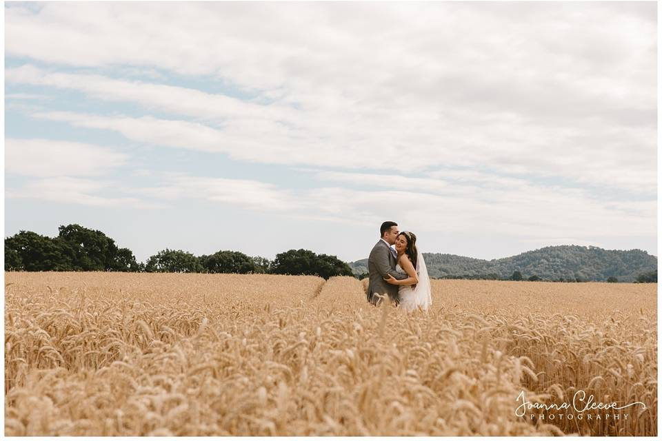 Couple in a field - Joanna Cleeve