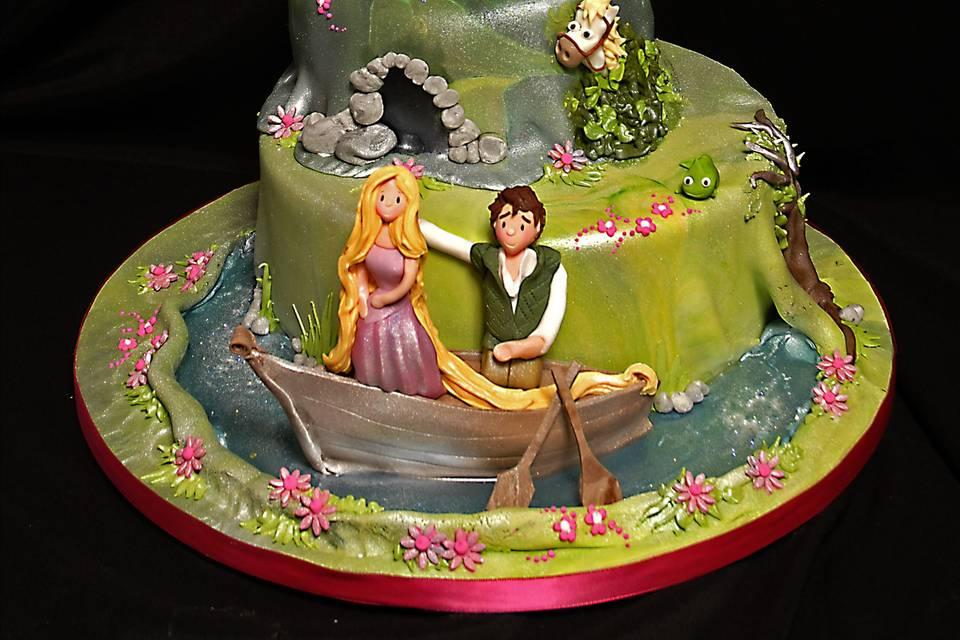 A romantic novelty cake