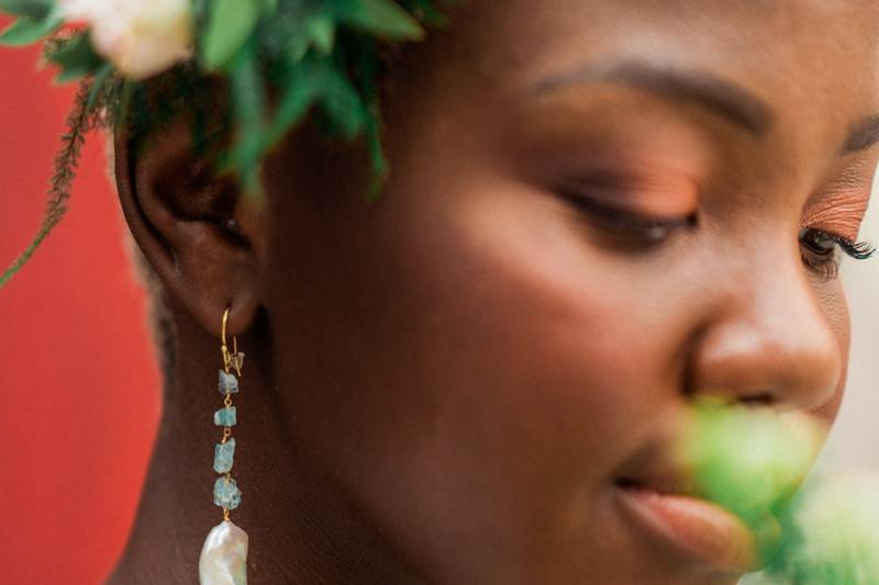 Baroque pearls earrings
