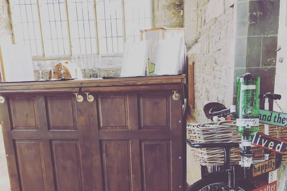 Small vintage style bar