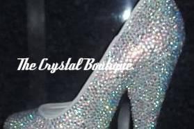 Higher crystal wedding shoes