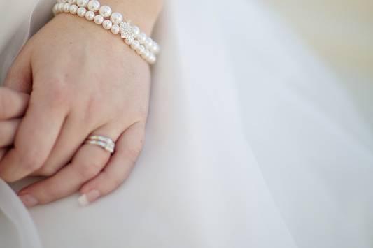 Bridal pearl bracelet Naomi