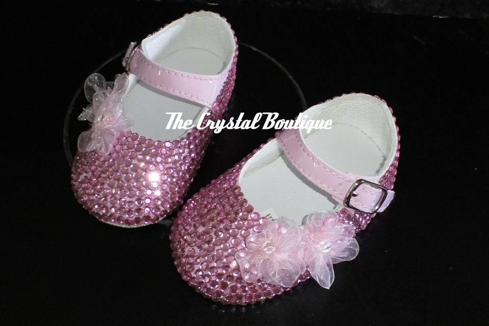 Pram crystal bridesmaid shoes