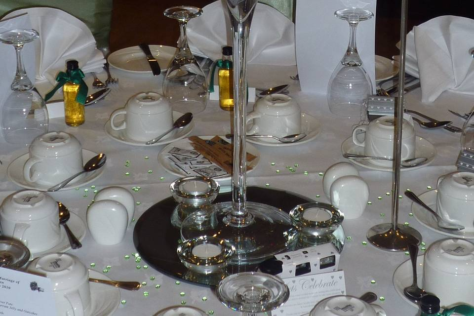 Hydrangea table display