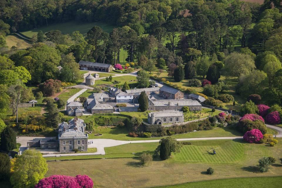 Aerial view of Boconnoc