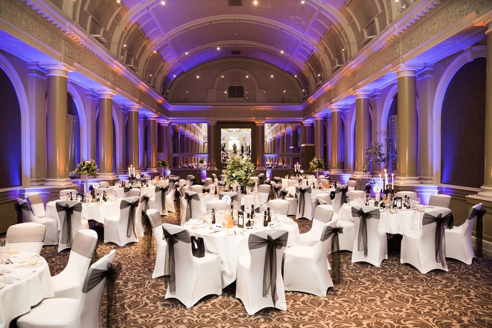 Large reception layout