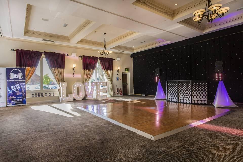 Dance floor and DJ