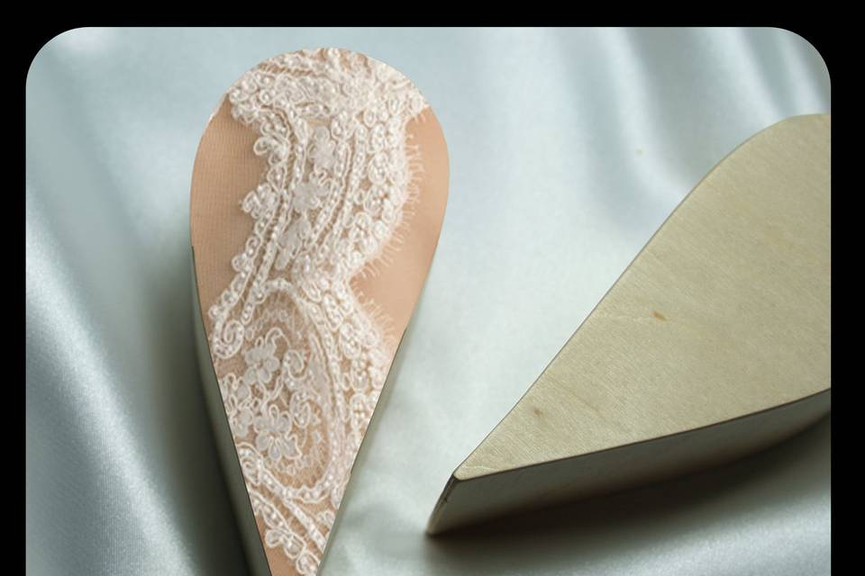 Mock-up of lace detail
