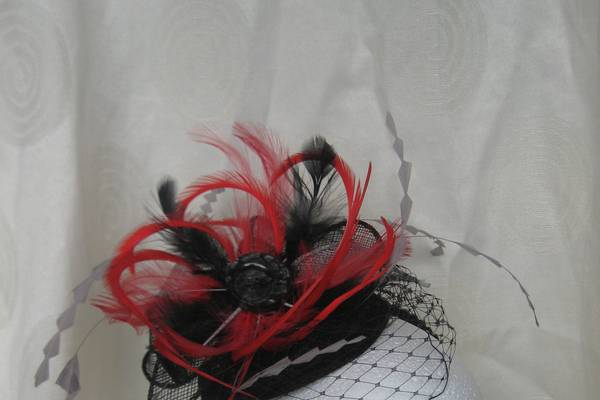 Feather and vintage button