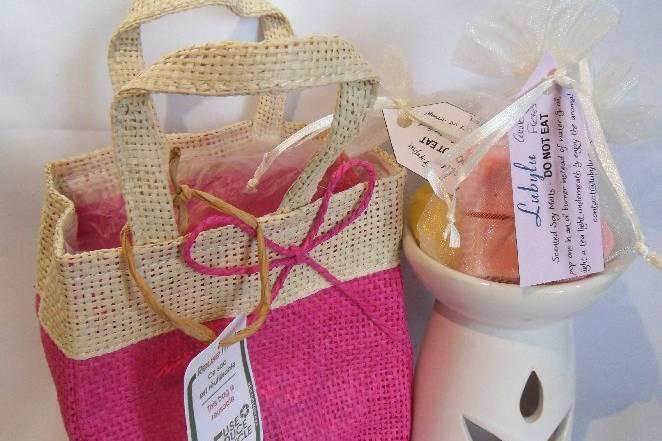 Gift Bag set - bright pink