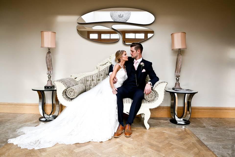 Newlyweds portrait - Lisa Cowen Photography Ltd