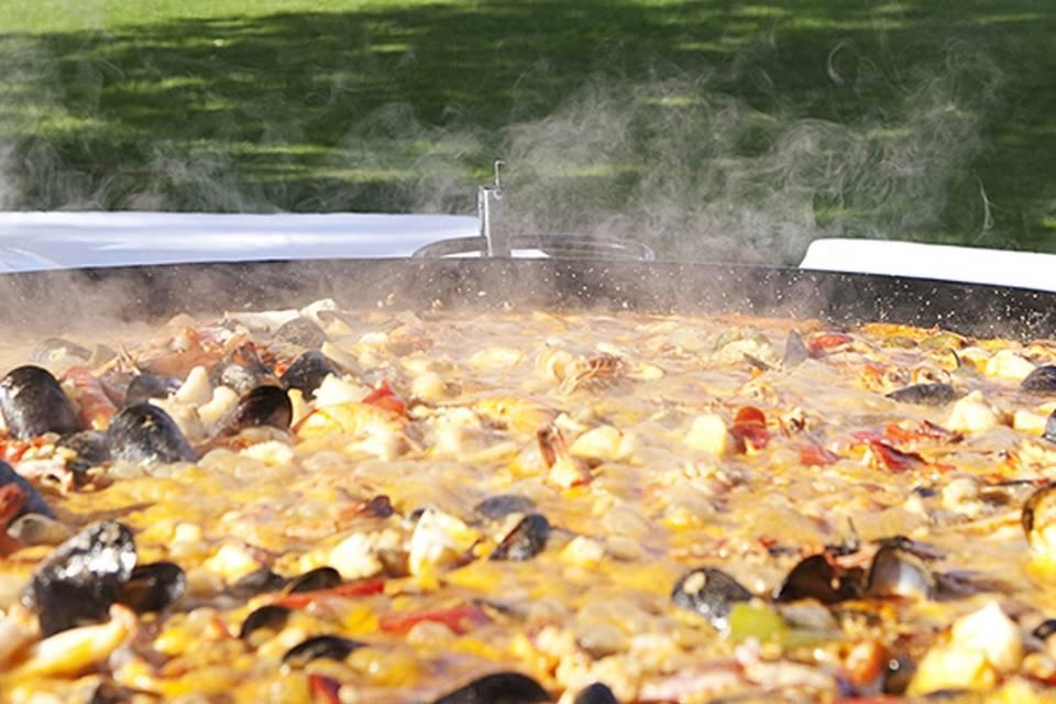 Spanish-inspired wedding catering