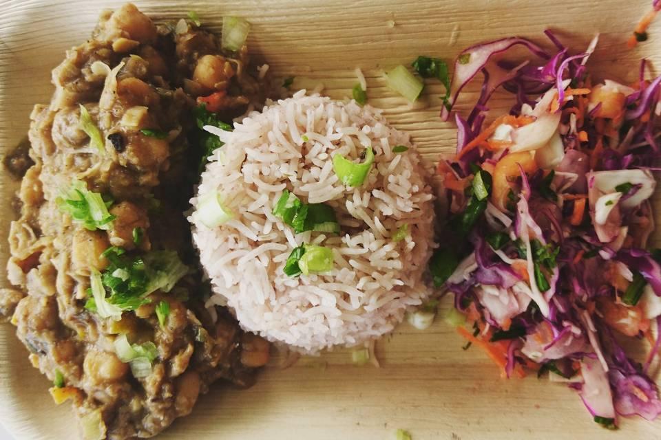 Main - Channa with Rice&Peas