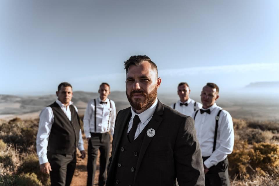 Groom & the groomsmen