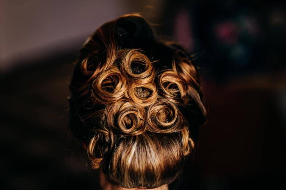 Updo with ringlet details
