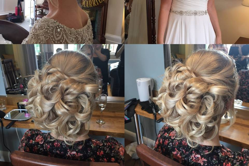 Hair style collage