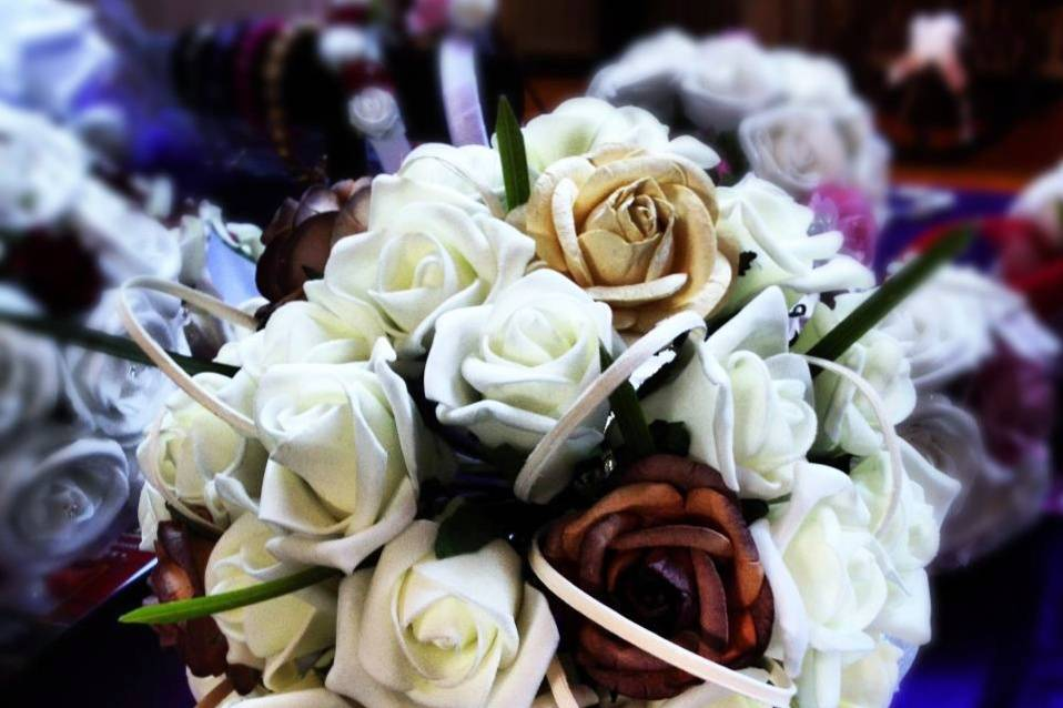 Coffee and cream bouquet