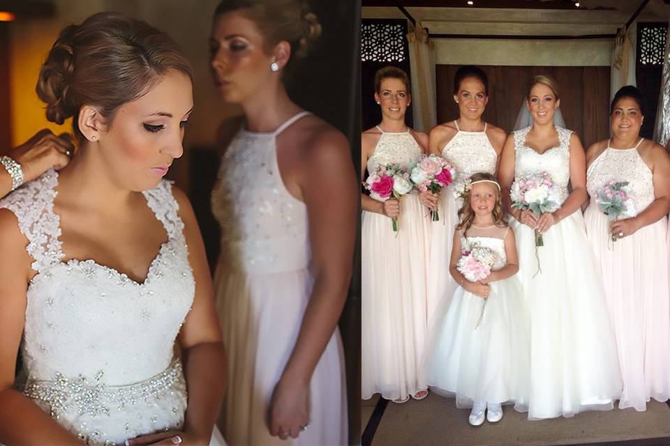 Claire's Bride and maids