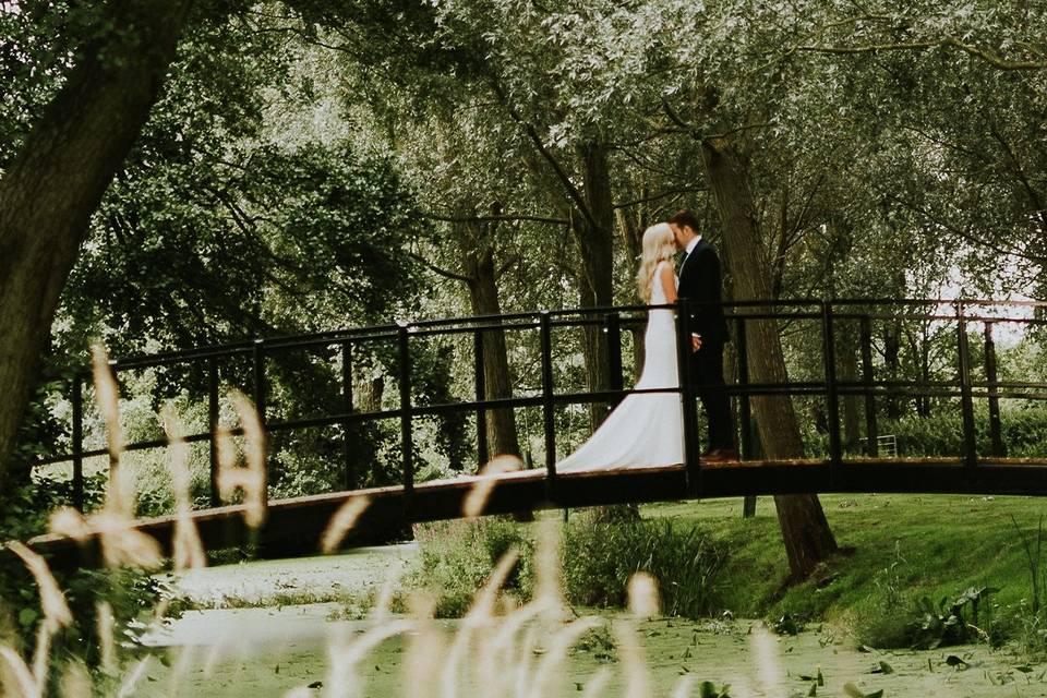 Romantic footbridge over the River Deben