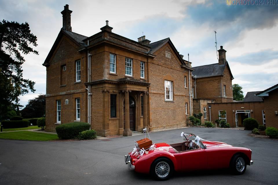Original grand doors of Sedgebrook Hall manor house
