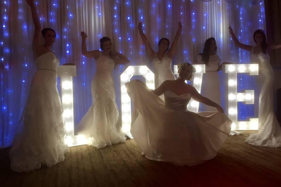 Starlit backdrop for weddings