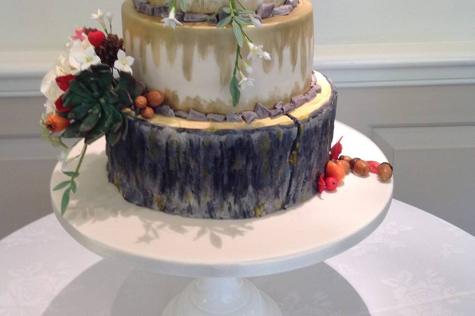 Rustic baked cake