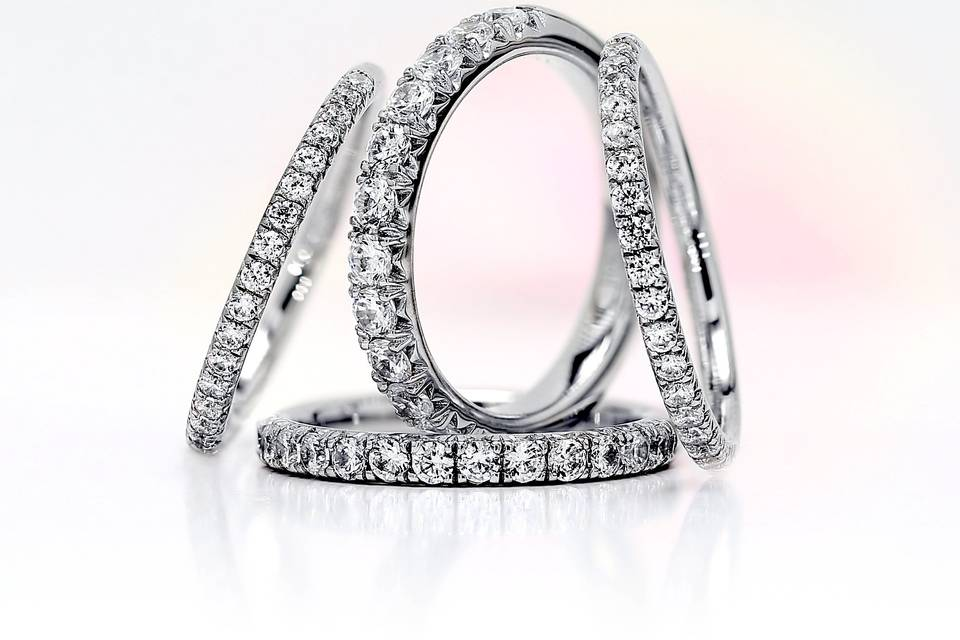 AVA French pave diamond rings