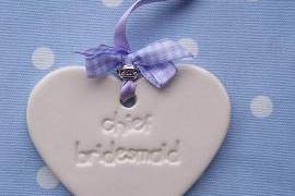 Chief Bridesmaid on Large Heart