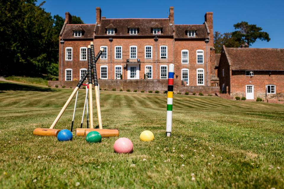 Croquet on the sweeping lawns