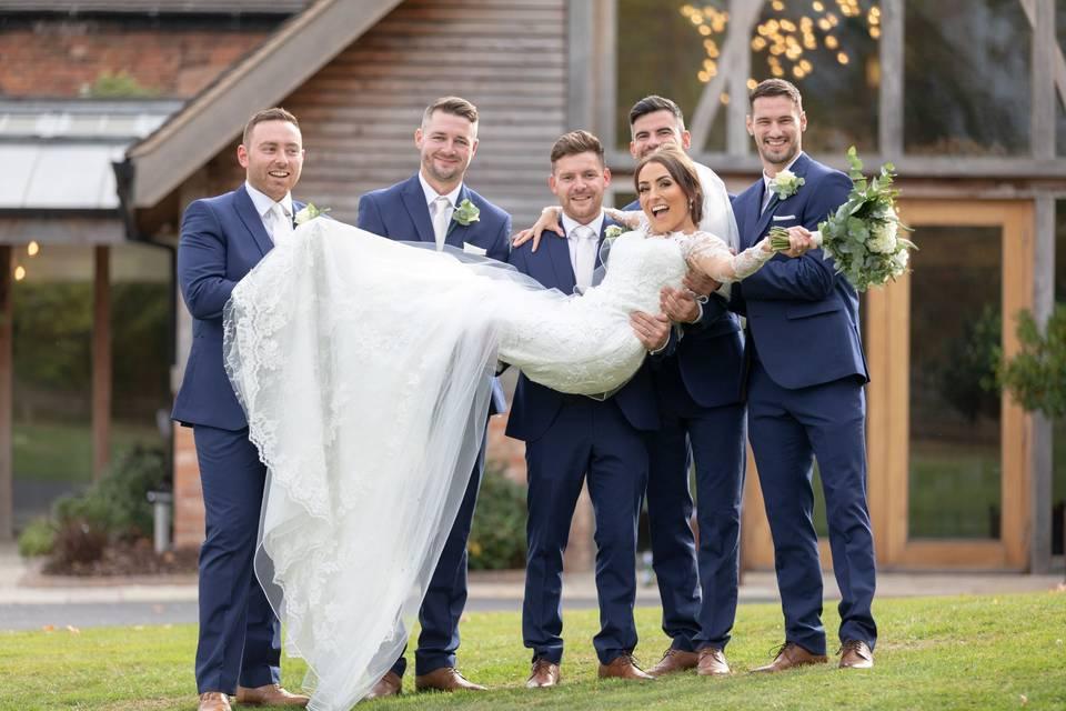 Group photo - S. R. Urwin Wedding Photography