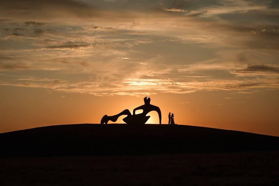 Reclining figure sunset