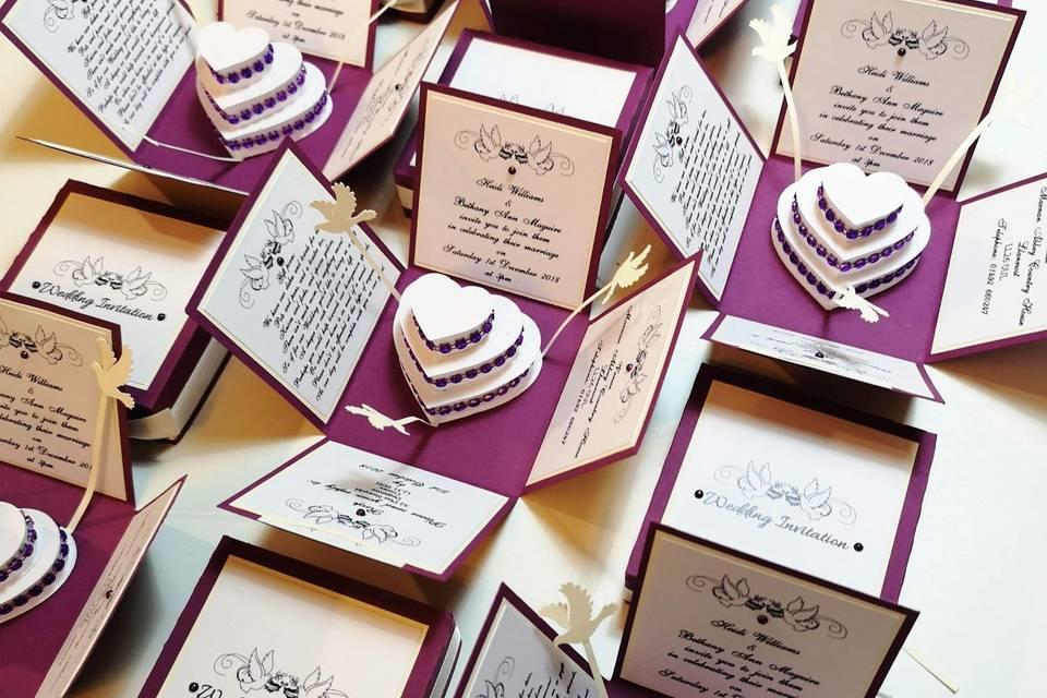 Hearts & Doves Invitations