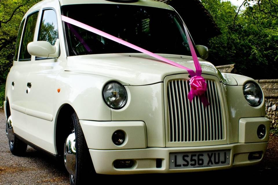White Wedding Taxis