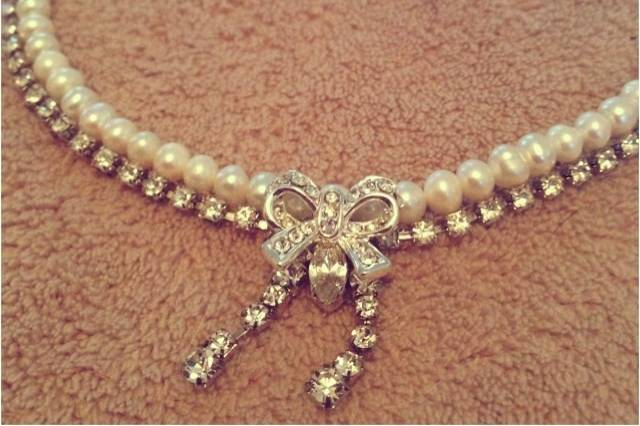 Freshwater pearls and bling