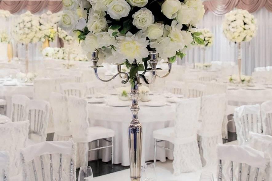 Elegant floral centrepieces
