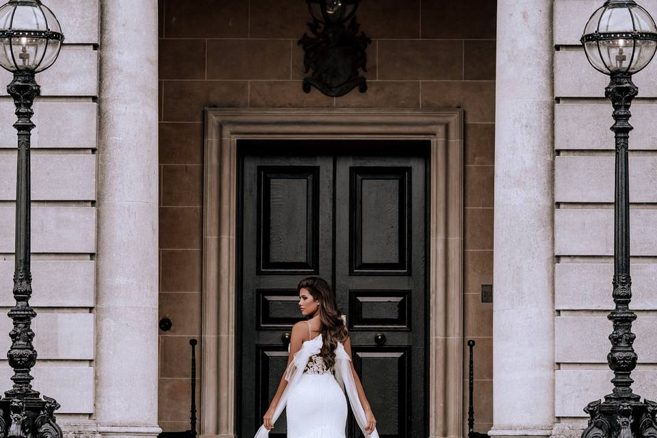 Stunning draped gown